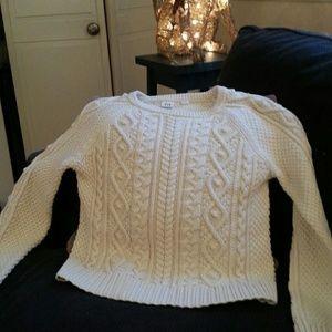 Gap xxl cable sweater. Girls. Cream/winter white